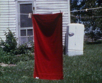 Iowa - red towel & fridge