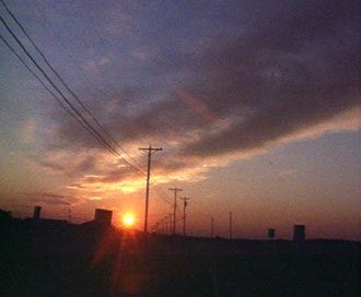 late sun with hiline poles