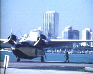 Miami board prop plane