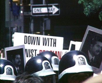 Street demo Saddam Hussein