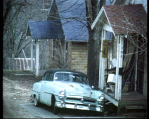 Car by porch