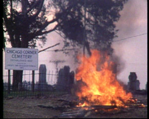 cemetery fire